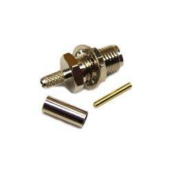 Wincomm - CON-CX100-SMAF-B - SMA-Female Bulkhead connector for LMR(R)-100/RG174 1/8 coaxial cable, SOI