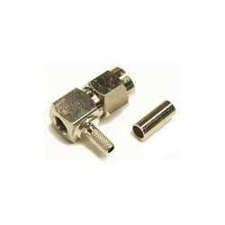 Wincomm - CON-CX100-SMAM-RA - SMA-Male Right angle connector for LMR(R)-100/RG174 1/8 coaxial cable, SOI