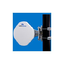 Radio Waves - HPCPE-23 - 1' (0.3m) High Performance Dish Antenna, Low Profile, 21.2-23.6GHz, Discriminator Series(tm), WR42 Flange, SOI