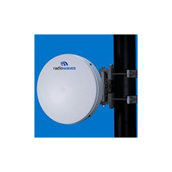 Radio Waves - HPLP1-23 - 1' (0.3m) High Performance Dish Antenna, Low Profile, 21.2-23.6GHz, WR42 Flange, SOI