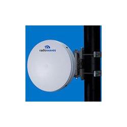 Radio Waves - HPLPD1-23 - 1' (0.3m) High Performance Dish Antenna, Low Profile, 21.2-23.6GHz, Dual Polarized, WR42 Flange, SOI