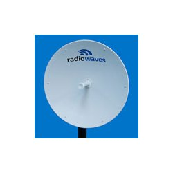 Cambium Networks - RDH4499A - 4.9GHz PTP Dish Antenna, 2-ft (0.6m), 4.4-5.0GHz, 26.6 dBi, Dual-polarization, H-Pol & V-Pol, with fine adjustments