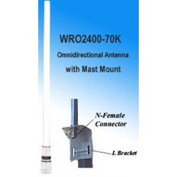 Wincomm - WRO2400-70K - NCG SF-245R 7.4 dBi Omnidirectional Antenna with Mast Mount with N-type Female connector, 2.4-2.5GHz ISM Band