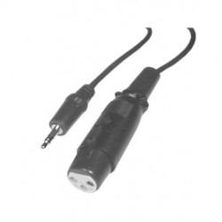 Calrad - 10-145 - Calrad Electronics 10-145 Female XLR to 3.5mm Stereo Plug 6' Long