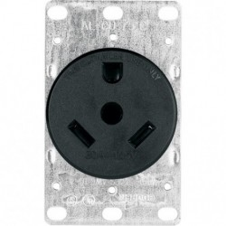 Cooper Wiring Devices - 1263-BOX - Cooper Wiring 1263-box Receptacle Single Flush 30a 125v 2p3w Brown