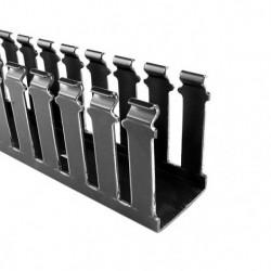 Hellermann Tyton - 181-00159 - Hellermanntyton 181-00159 Slotted Wall Duct - 3 X 3 Adhesive PVC Bla