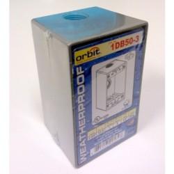 Orbit - 1DB50-3 - Orbit Industries 1DB50-3 1 Gang W-P Box 3 1-2 Hubs 2-5-8 Deep