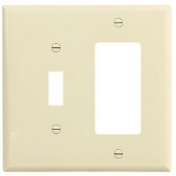 Cooper Wiring Devices - 2053A - Cooper Wiring Devices 2053A Wallplate 2G Tog/Deco Thermoset Mid AL
