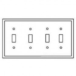 Cooper Wiring Devices - 2054A - Cooper Wiring Devices 2054A Wallplate 4G Toggle Thermoset Mid AL