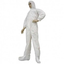 Tians - 206853-5xl - Epic 206853-5xl Coveralls, White Mp Coated, Hb, Ew, Eb, 5xl 25/case