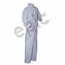 Tians - 212871-3xl - Epic 212871-3xl Coveralls, White Pe Coated, Collar, Ew, 3xl 25/case