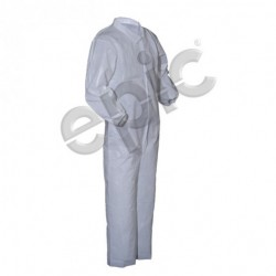 Tians - 212871-l - Epic 212871-l Coveralls, White Pe Coated, Collar, Ew, Lrg 25/case