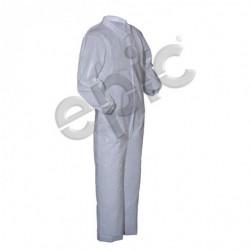 Tians - 212871-l - Epic 212871-l Coveralls, White Pe Coated, Collar, Ew, Lrg 25/case