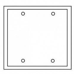 Cooper Wiring Devices - 2137A-BOX - Cooper Wiring 2137a-box Wallplate 2g Blank Thermo Mount Standard Al