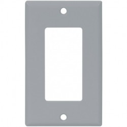 Cooper Wiring Devices - 2151GY-BOX - Cooper Wiring Devices 2151GY Wallplate 1G Decorator Thermoset Std GY