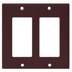 Cooper Wiring Devices - 2152B-BOX - Cooper Wiring Devices 2152B 2G Decora-Style Thermoset Wallplate-Brown