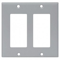 Cooper Wiring Devices - 2152GY-BOX - Cooper Wiring Devices 2152GY 2GDecora-Style Thermoset Wallplate-Gray