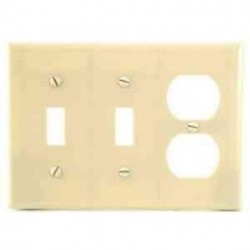 Cooper Wiring Devices - 2158V-BOX - Cooper Wiring 2158v-box Wallplate 3g 2tg Duplex Thermoset Standard Iv