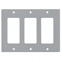 Cooper Wiring Devices - 2163GY-BOX - Cooper Wiring Devices 2163GY Wallplate 3G Decorator Thermoset Std GY