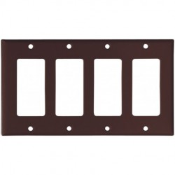 Cooper Wiring Devices - 2164B-BOX - Cooper Wiring Devices 2164B-BOX Wallplate 4G Decorator Thermoset St BR