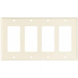 Cooper Wiring Devices - 2164LA-BOX - Cooper Wiring Devices 2164LA-BOX Wallplate 4G Decorator Thermoset LA
