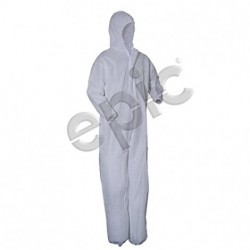 Tians - 217880-l - Epic 217880-l Coverall White Heavy Polypro Collar, No Elastic, 25/case