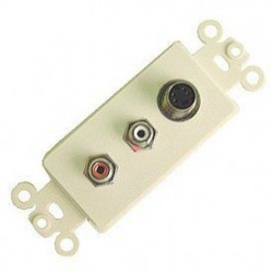 Calrad - 28-150 - Calrad Electronics 28-150 4 Pin Nickel Plated Mini DIN Feed Thru Jack