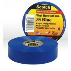 3M - 35BLUE3/4X66 - 3M 35BLUE3-4X66 Vinyl Electrical Color Coding Tape 3-4 in x 66 ft Bl