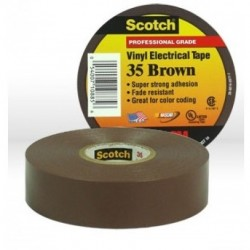 3M - 35BROWN3/4X66 - 3M 35BROWN3-4X66 Vinyl Electrical Color Coding Tape 3-4 in x 66 ft B