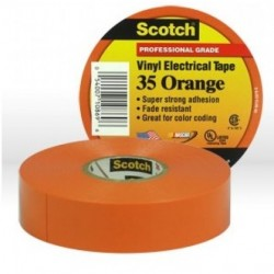 3M - 35ORANGE3/4X66 - 3M 35ORANGE3-4X66 Vinyl Electrical Color Coding Tape 3-4 in x 66 ft
