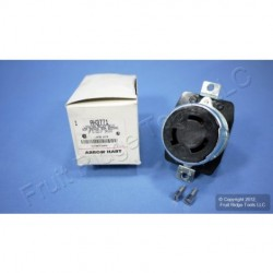 Cooper Wiring Devices - 3771 - Cooper Wiring 3771 Receptacle 50a 600vac/250vdc 2p3w Hart-lock Bk