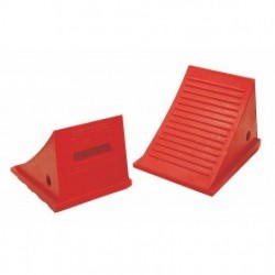 Checkers Industrial - 3KRT7 - Checkers Industrial - 3KRT7 - Wheel Chock, 8 In H, Urethane, Orange