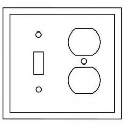 Cooper Wiring Devices - 5138GY-BOX - Cooper Wiring Devices 5138GY-BOX Wallplate 2G Toggle/Duplex Nylon Std