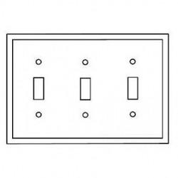 Cooper Wiring Devices - 5141A - Cooper Wiring Devices 5141A Wallplate 3G Toggle Nylon Std AL