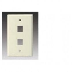 Cooper Wiring Devices - 5520BK-MSP - Cooper Wiring Devices 5520BK-MSP 2 Port Flush Modular Wallplate, Black