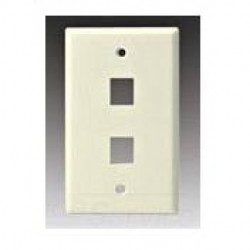 Cooper Wiring Devices - 5520W-MSP - Cooper Wiring Devices, 5520W-MSP 2 Port Flush Modular Wallplate, White