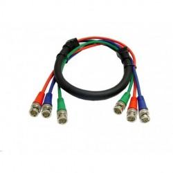 Calrad - 55-610-12 - Calrad Electronics 55-610-12 Shielded RGB Video Cable 3 BNC Males 12'