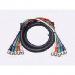 Calrad - 55-611-12 - Calrad 55-611-12 Shielded RGB Video Cable 5 BNC Males 12ft