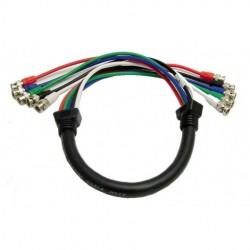 Calrad - 55-611-25 - Calrad Electronics 55-611-25 Shielded RGB Video Cable 5 BNC Males 25'