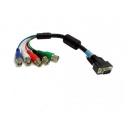 Calrad - 556216 - Calrad Electronics 55-621-6 DB15 Male to 5 BNC Females RGB-HDTY Cable