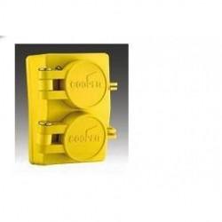 Cooper Wiring Devices - 65W49 - Cooper Wiring Devices 65W49 Recp Single WT 15A 250V 2P3W H/L YL