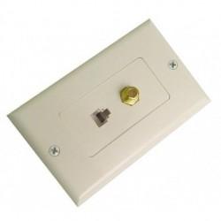 Calrad - 70-534-WD - Calrad 70-534-WD Telephone/TV Wall Plate White Designer