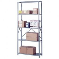 Lyon Workspace - 8006M - Lyon Metal 8006M Open Shelving Add-on with 5 medium-duty Shelves 36W
