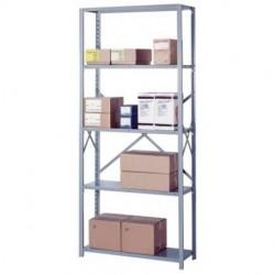 Lyon Workspace - 8006SM - Lyon Metal 8006SM Open Shelving Starter with 5 medium-duty Shelves 3