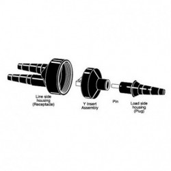 IDEAL Electrical / IDEAL Industries - 83S-ADB1-C - Ideal 83S-ADB1-C Y-Tap Set Screw Neutral Non-Fused #1 AWG #12-#6 A