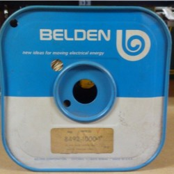 Belden / CDT - 8492-1000-09 - Belden 8492-1000-09 19 Awg Solid Twisted Pair Plastic Insulated Cable