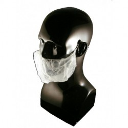 Tians - 90088 - Tians 90088 Beard Covers White POLYPRO Sold 1000- Case