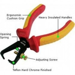 Eclipse Tools - 902-202 - Eclipse Tools 1000V Insulated Wire Stripping Pliers - adjustable