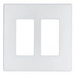 Cooper Wiring Devices - 9522SG - Cooper Wiring Devices 9522SG Aspire Screwless Wallplate2-Gang Silver Granite