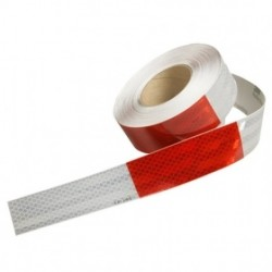 "3M - 963-32-RD/WHT-1.5""X50YD - 3M 963-32-Rd/Wht -1.5 x 50yd Flexible Prismatic Conspicuity Tape"